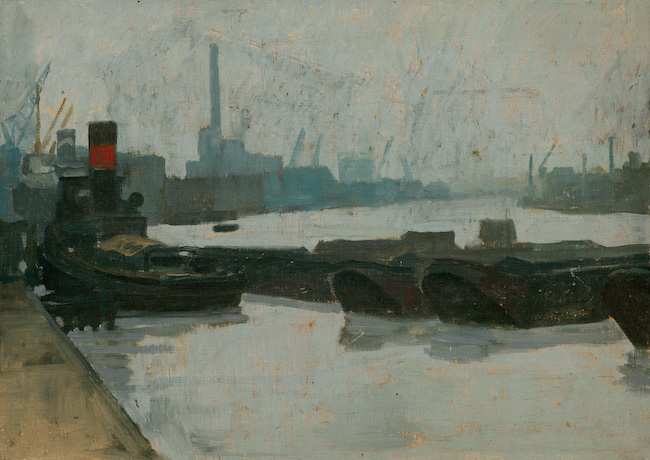 The Thames At Rotherhithe by Stephen Hurst